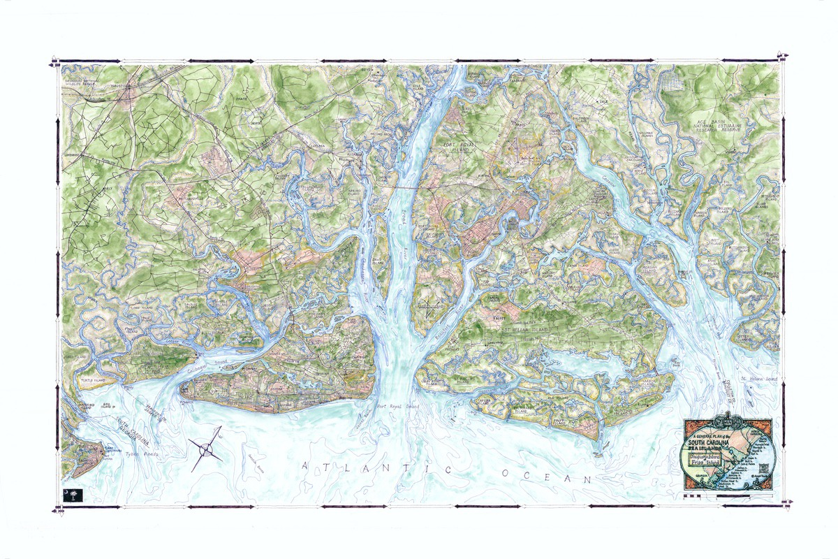 Lowcountry South Carolina Map.Maps Show Beauty Of Lowcountry Coast Beaufort South Carolina The